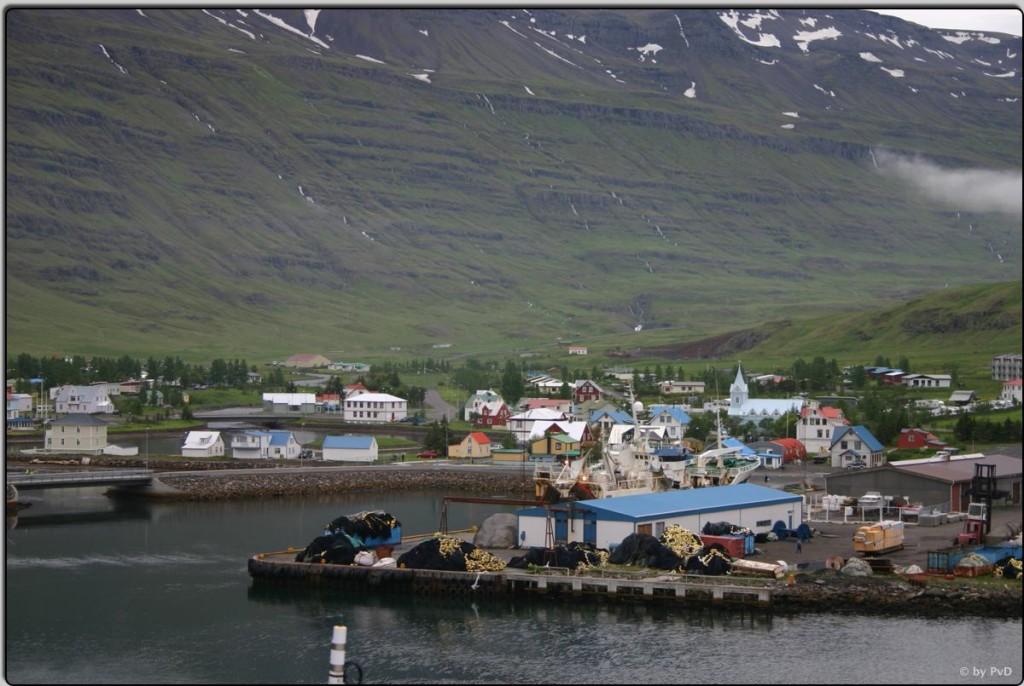 Endlich in Island, Ankunft in Seydisfjørdur