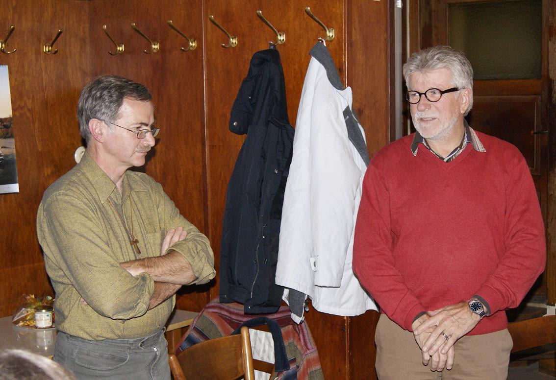 Herr Franz Kraus, Kreisfachberater für Gartenkultur und Herr Erhard Seitz, 1. Vorstand vom OGV Stauf