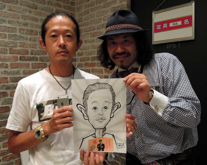 日本放送 キキマス!公開収録イベントにて出張似顔絵サービス