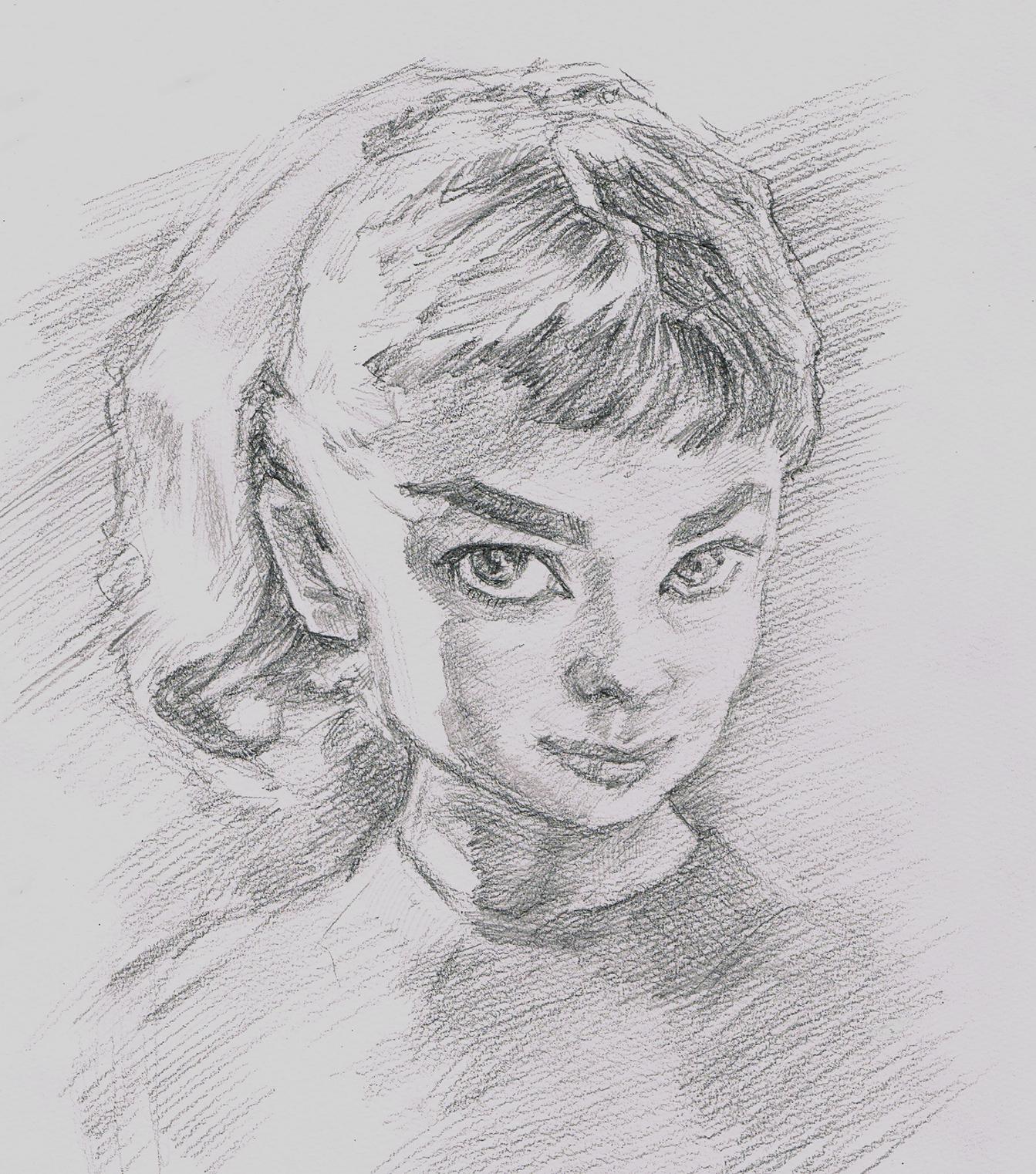 人気の肖像画人物デッサン人物画13