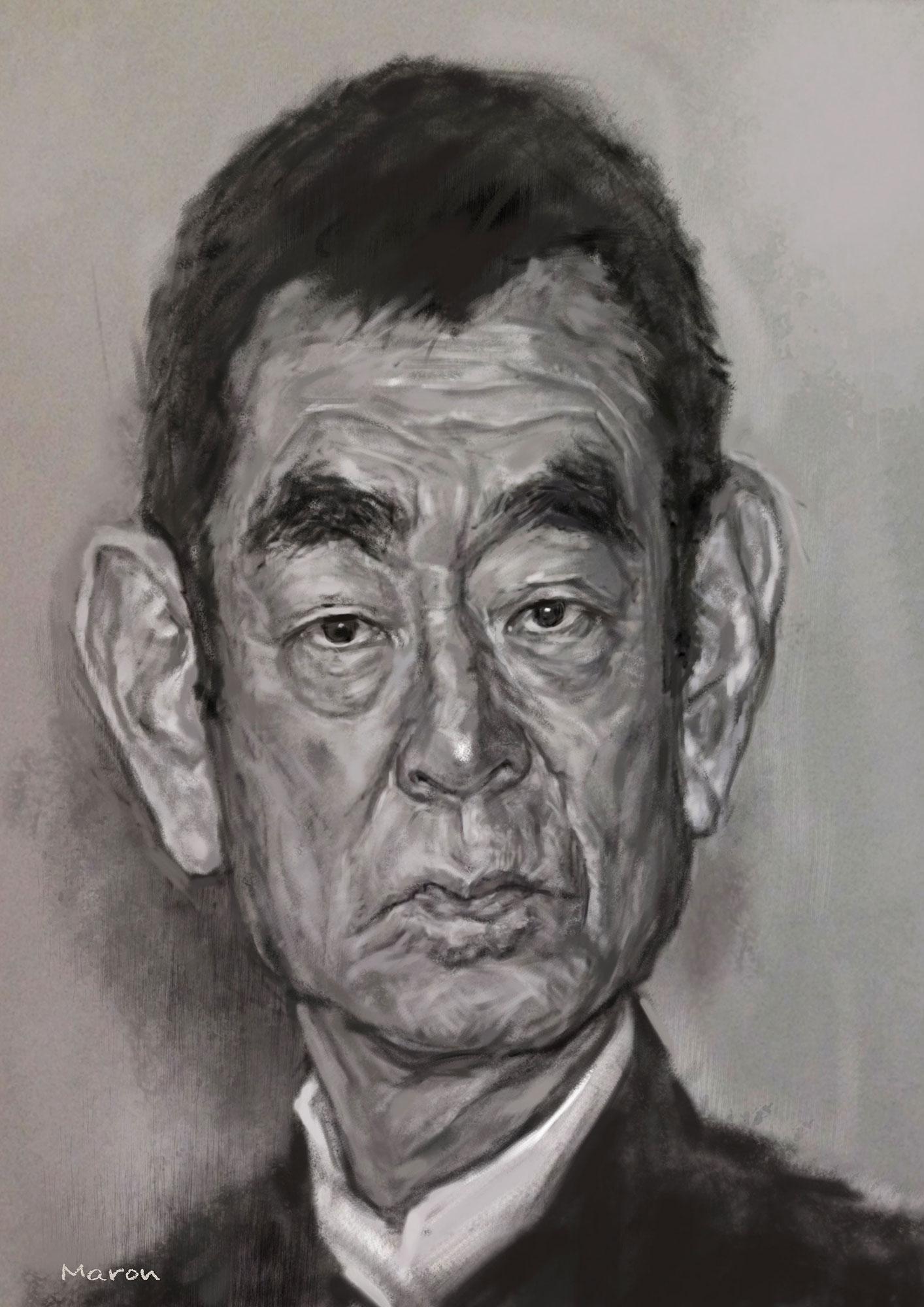 【リアルデッサン・肖像画】高倉健さん
