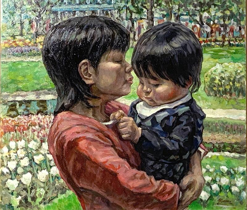 油絵の肖像画や人物画なら花木マロンまで1