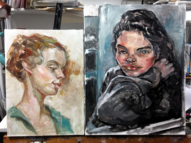 【油絵肖像画】模写・習作