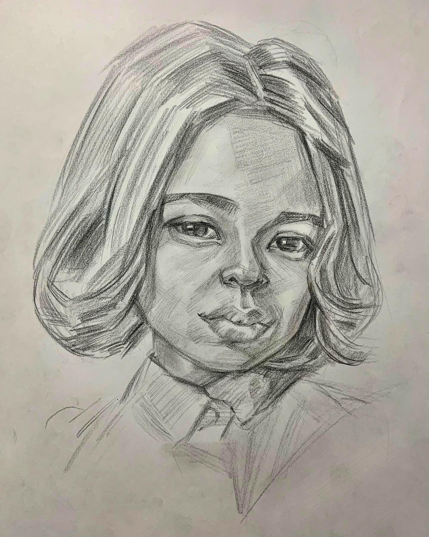 人気の肖像画人物デッサン人物画5