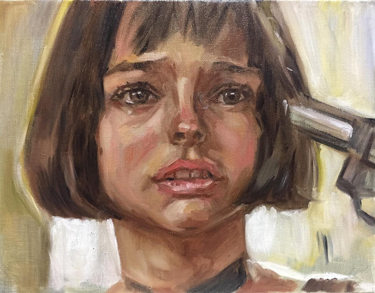 レオンのマチルダをモデルに肖像画