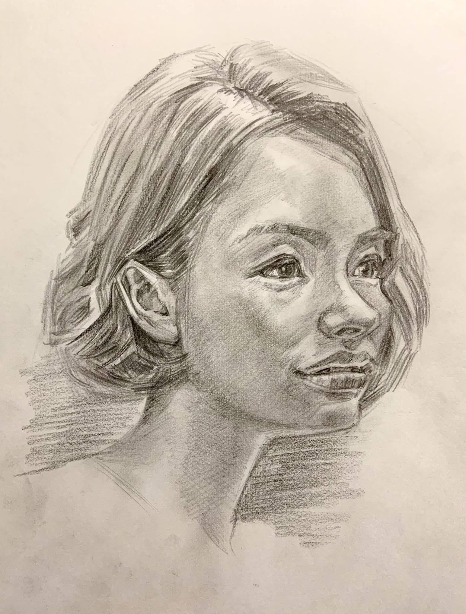 人気の肖像画人物デッサン人物画7