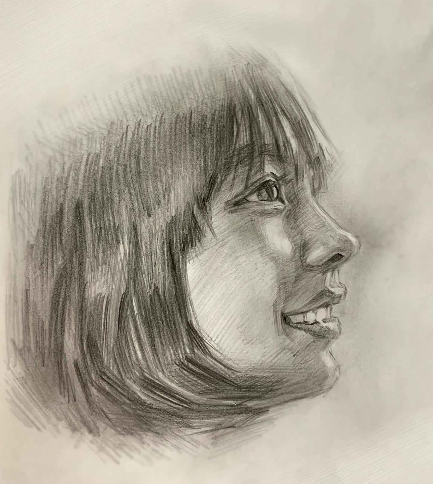 人気の肖像画人物デッサン人物画2