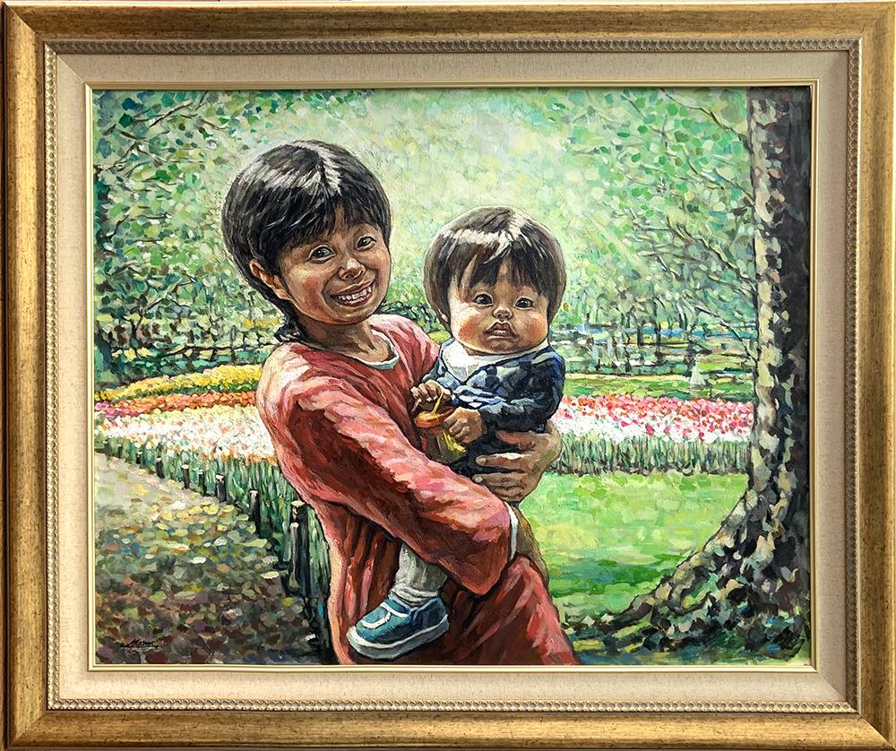 油絵の肖像画や人物画なら花木マロンまで2