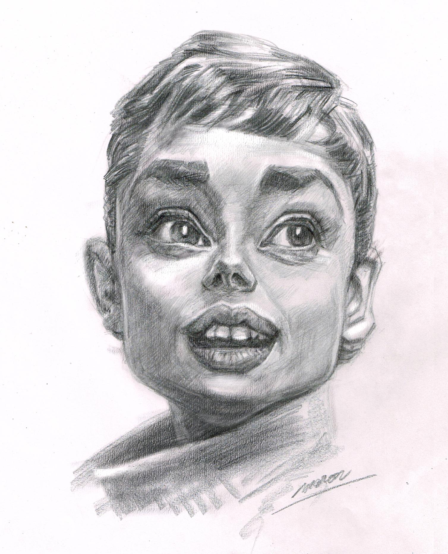 人気の肖像画人物デッサン人物画12