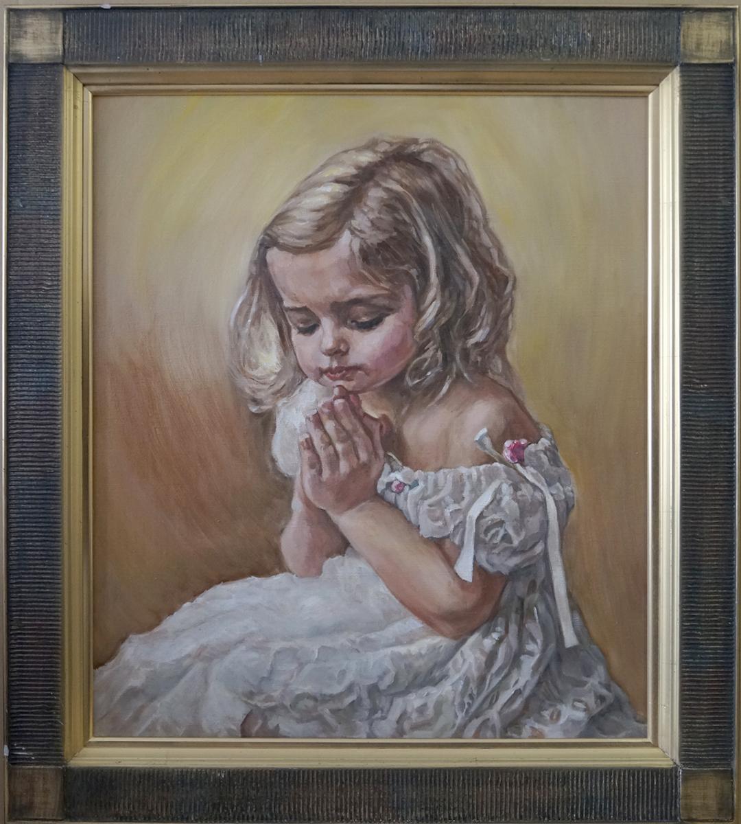 【油絵肖像画】小さな祈り