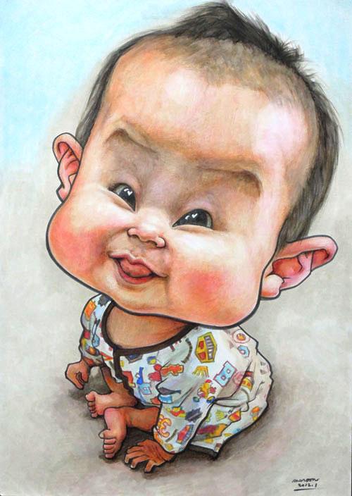 【カリカチュアな似顔絵】赤ちゃん