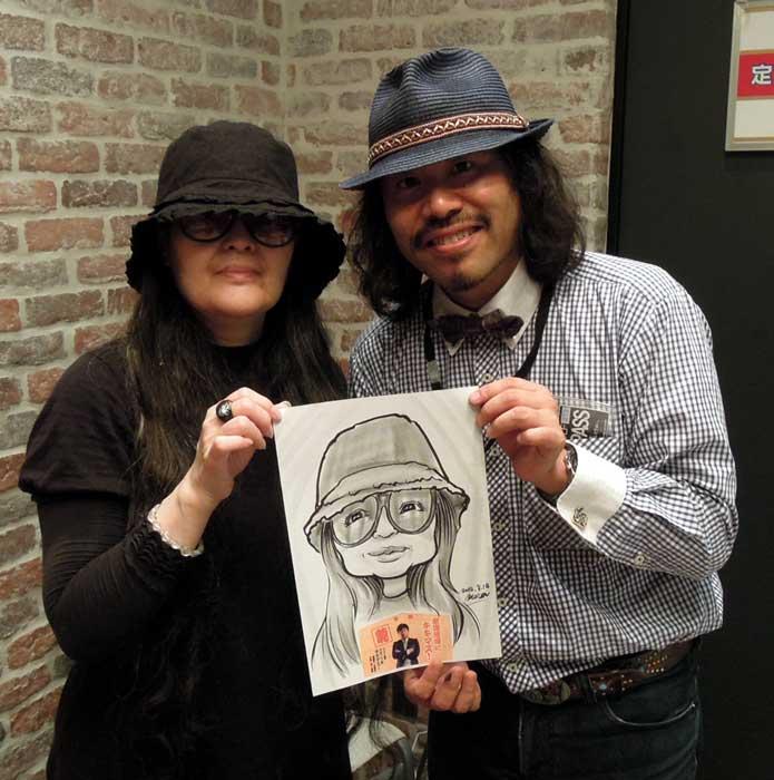 日本放送 キキマス!公開収録イベントにて似顔絵サービス