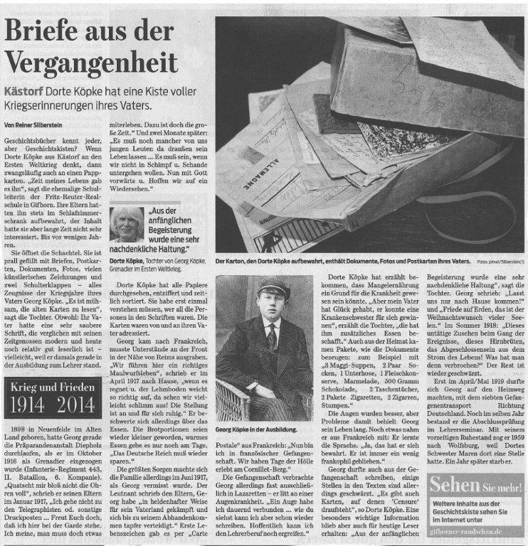 Gifhorner Rundschau 13.10.14