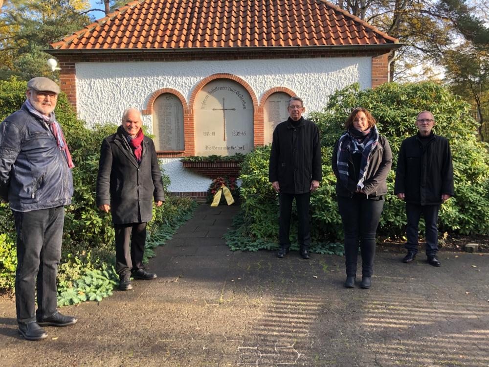 von lks.: Werner Herrmann, Willy Knerr, Carsten Behling, Sarah Laszus, Jürgen Völke.
