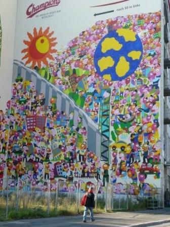 Zeitgeschichte als Grafitti, die innerdeutsche Mauer