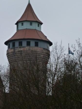 DER Nürnberger Turm auf der Kaiserburg, der Sinwellturm