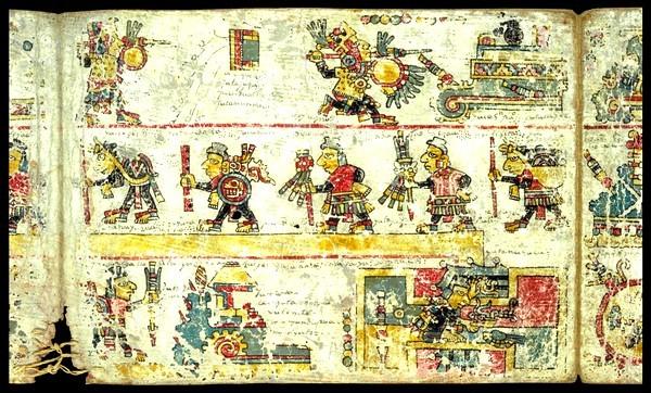 Codex  colombino: C'est la vie du seigneur 8 Venenado 'Garra de jaguar'.