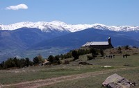 Les Pyrénées: Cerdagne, Belloc, vue vers l'Espagne