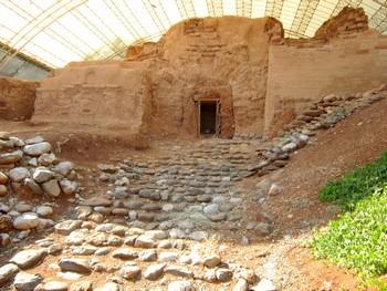 Vieille porte de l'ancienne ville de Dan (nord-est d'Israel), elle a 3000 ans!
