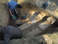 four céramique romain - La Nautique, fouilles