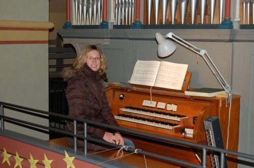 Organistin Sonja Schulze