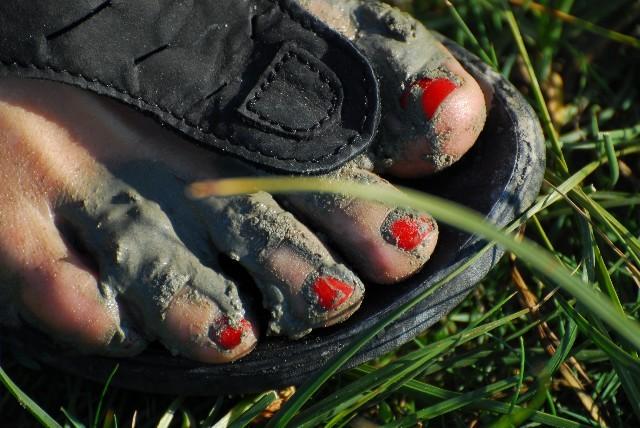 So sehen Füße aus in der Normandie...