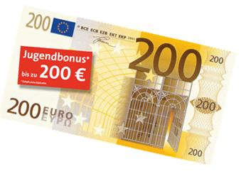 Bausparen Jugendbonus bis zu 200 Euro