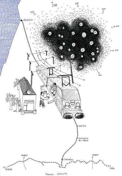 Le marché noir, dessin, A4