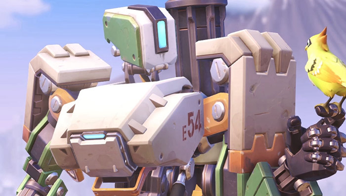 Bastion uit Overwatch.