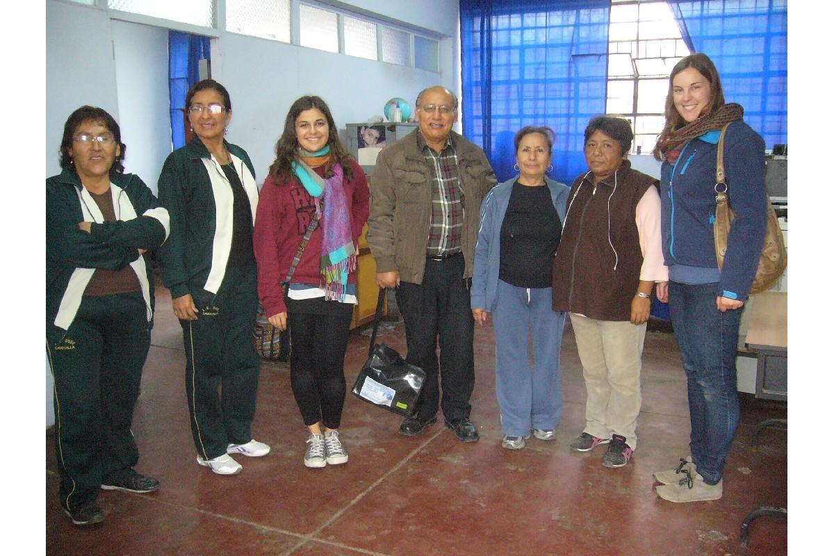 Miembros de Econtinuidad y profesoras.