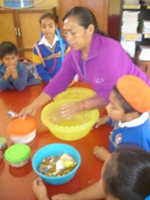 Para preparar la ensalada todos los grupos trajeron todo lo necesario.