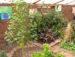 Interior del Biohuerto Educativo de Oropesa (Cusco -Perú)