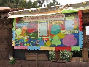Expresión artística elaborada a partir de un Biohuerto Educativo (Cusco - Perú)