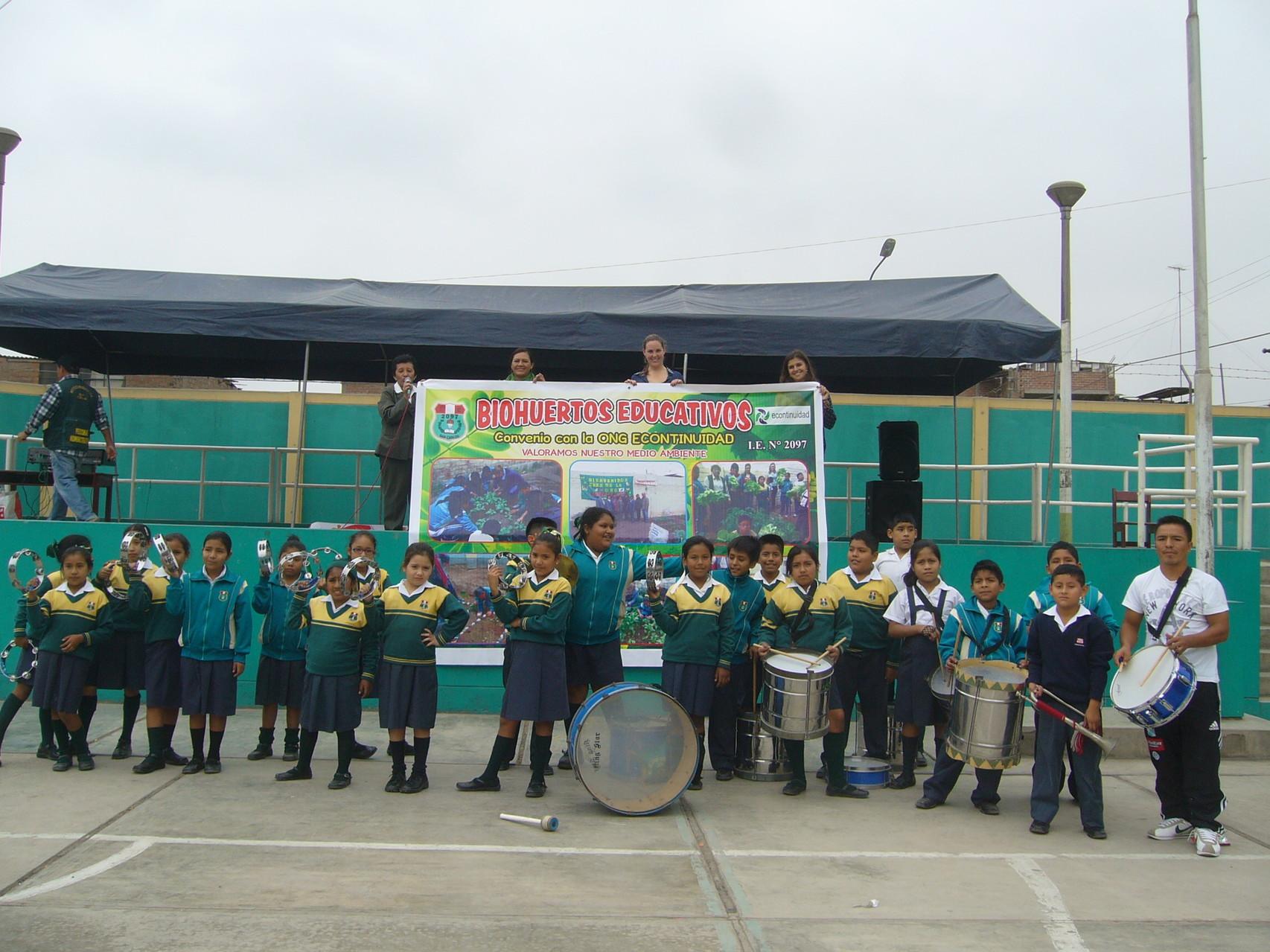 Banda de música de la Institución Educativa.