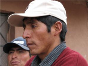 Nuestro amigo Adrián Sallo Sallo, a quien conocimos en julio de 2000 en las alturas del Cusco