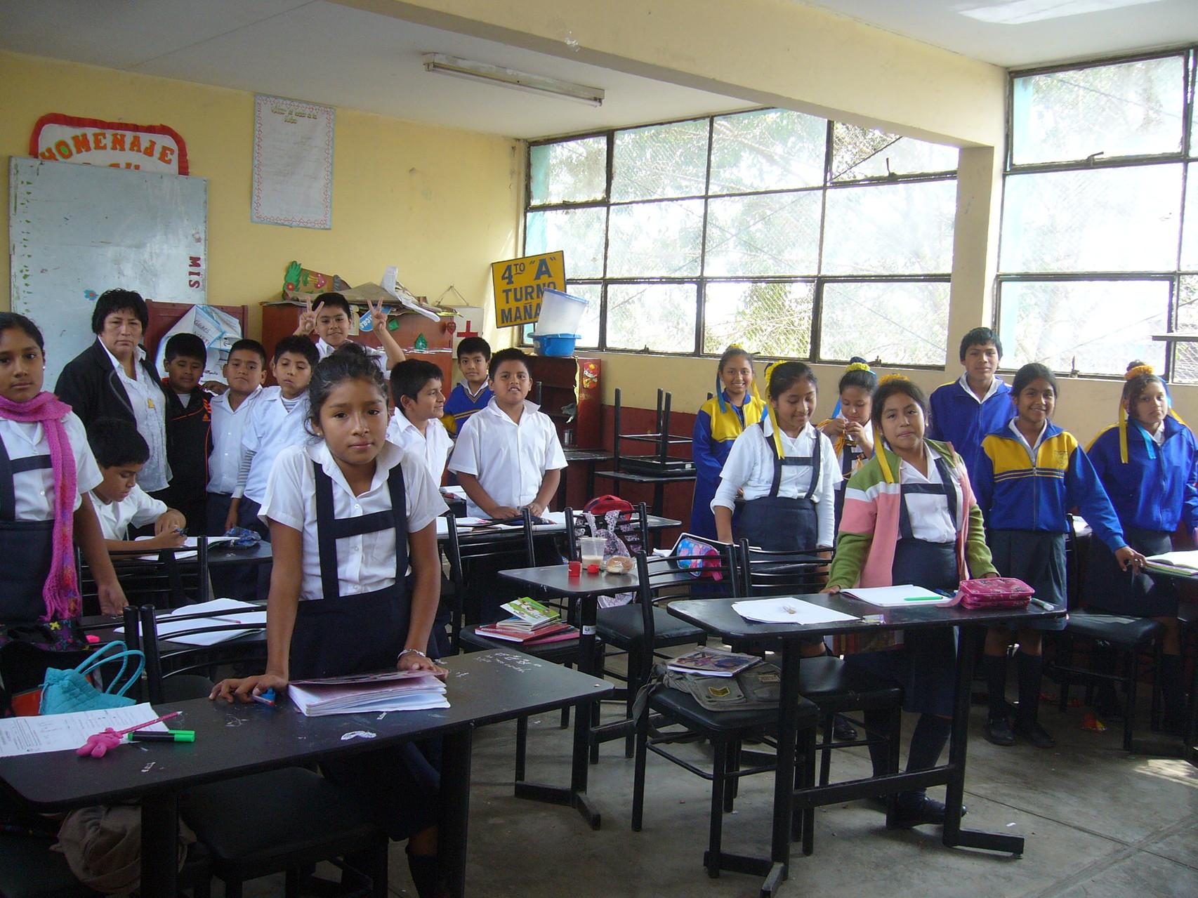 Aula alumnos  del 6º A - Profesora Doña Pilar