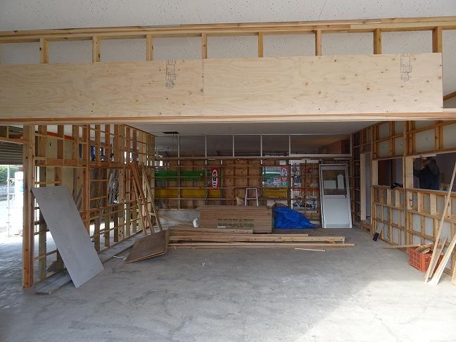 2020.2.3 増築部分の工事が始まりました。