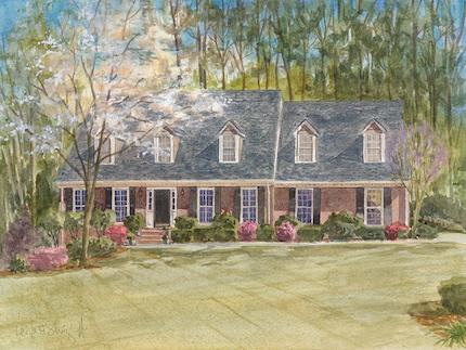Roswell, GA, 9 x 12, commission