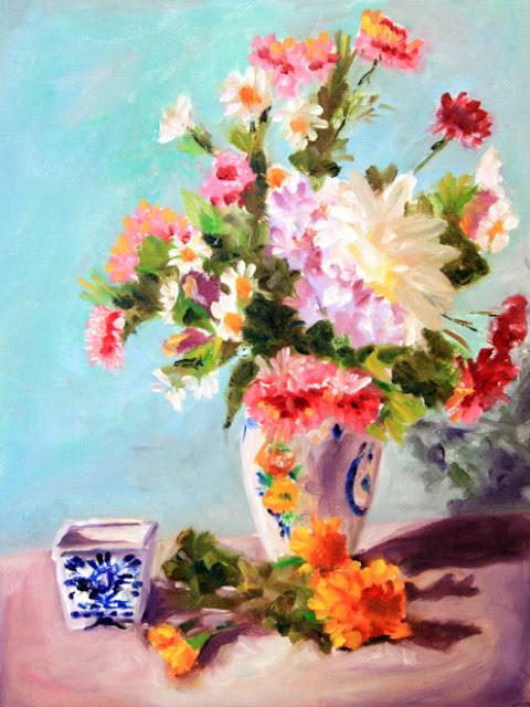"Studio Still Life, Oil on Canvas board, 12x16"""