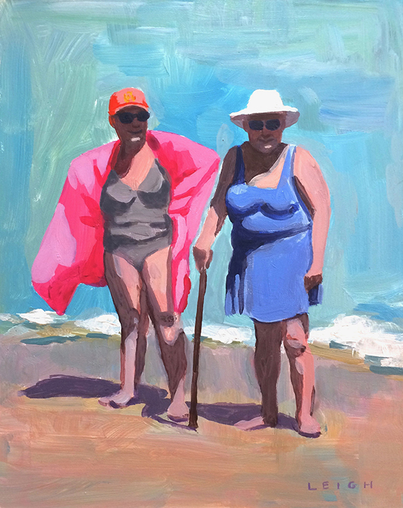 "Queens of Summer, Acrylic on Canvas, 8x10"" SOLD"