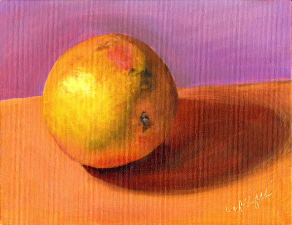"And Then I ate it for Breakfast, 6x8"" Oil on Canvas Board, SOLD"