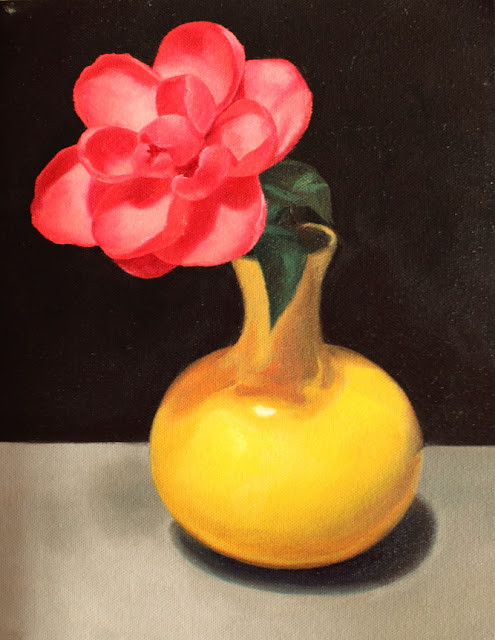 "Camelia, Royal velvet, Oil on Canvas, 8x10"", Private Collection"