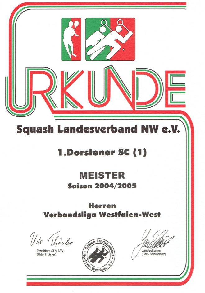 Meister 2004 / 2005