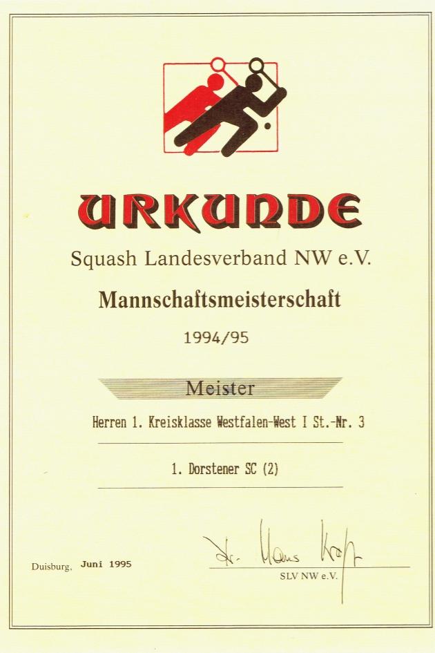 Meister 1994 / 1995