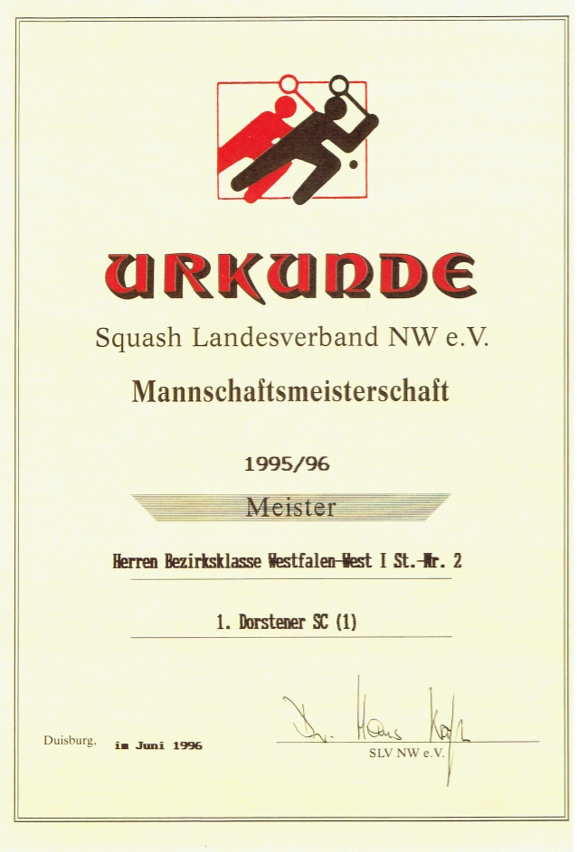 Meister 1995 / 1996