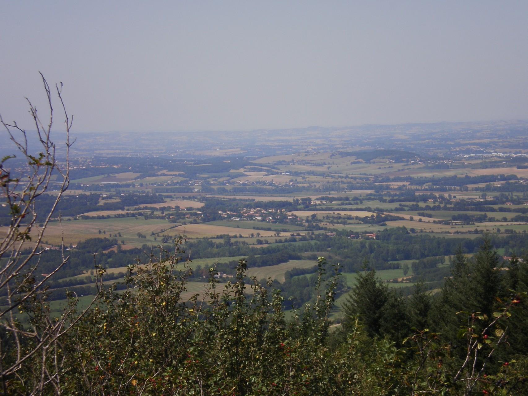 vue sur le Sidobre et les monts de Lacaune