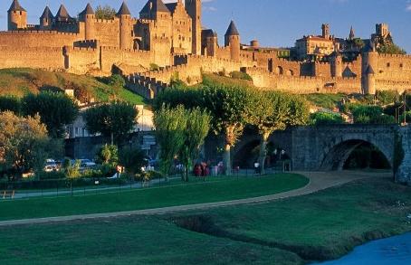 la cité de Carcassonne dans l'Aude