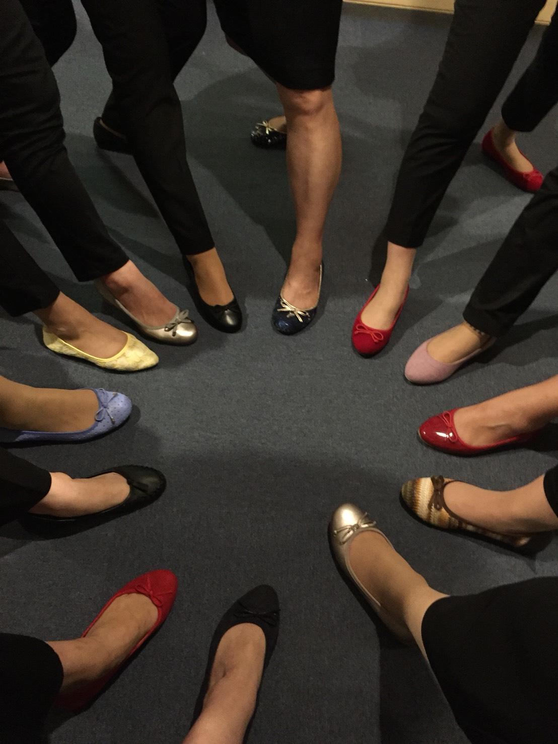 団長お気に入りの靴の写真