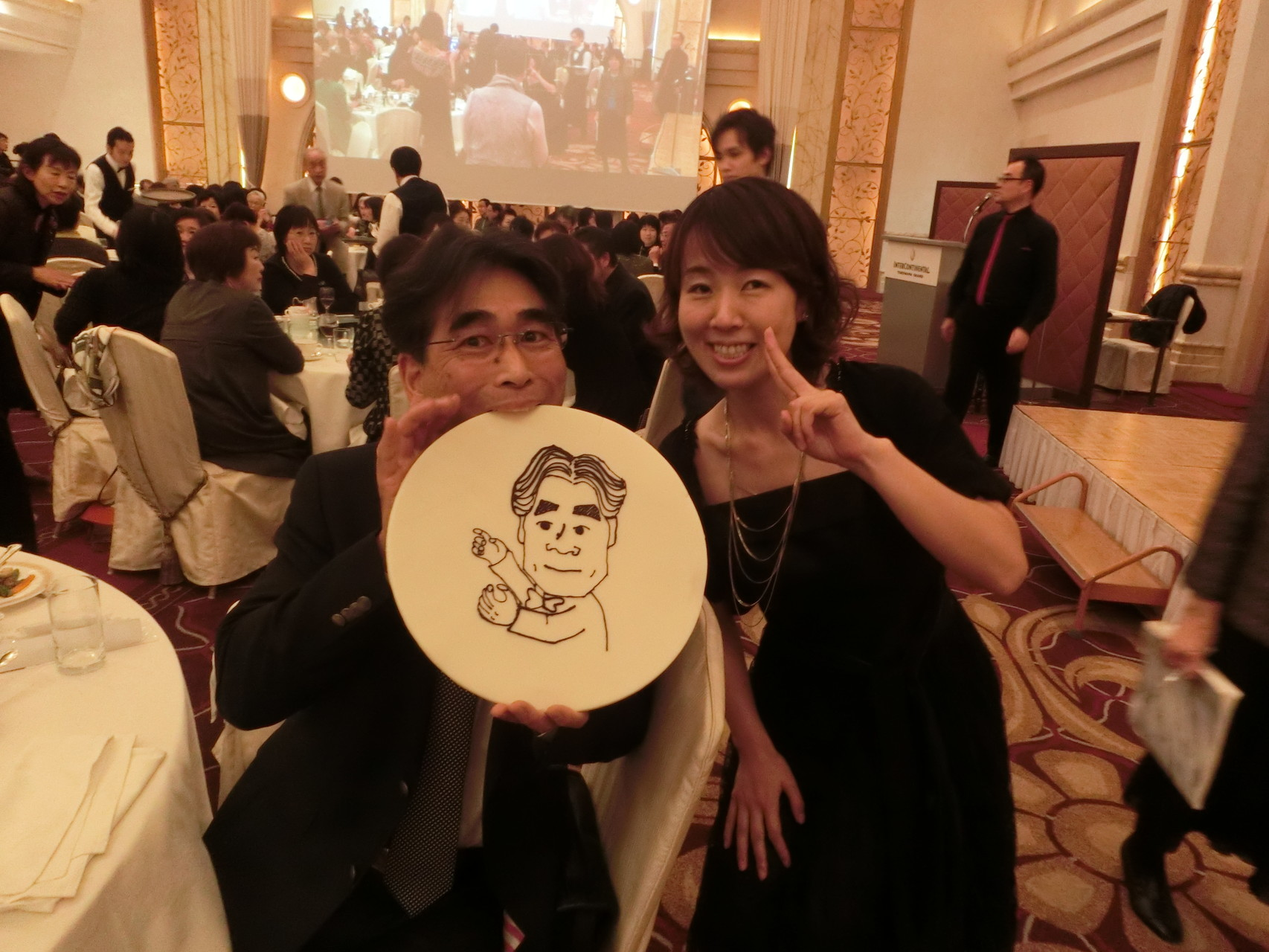 若菜ちゃんが書いた松村先生の似顔絵