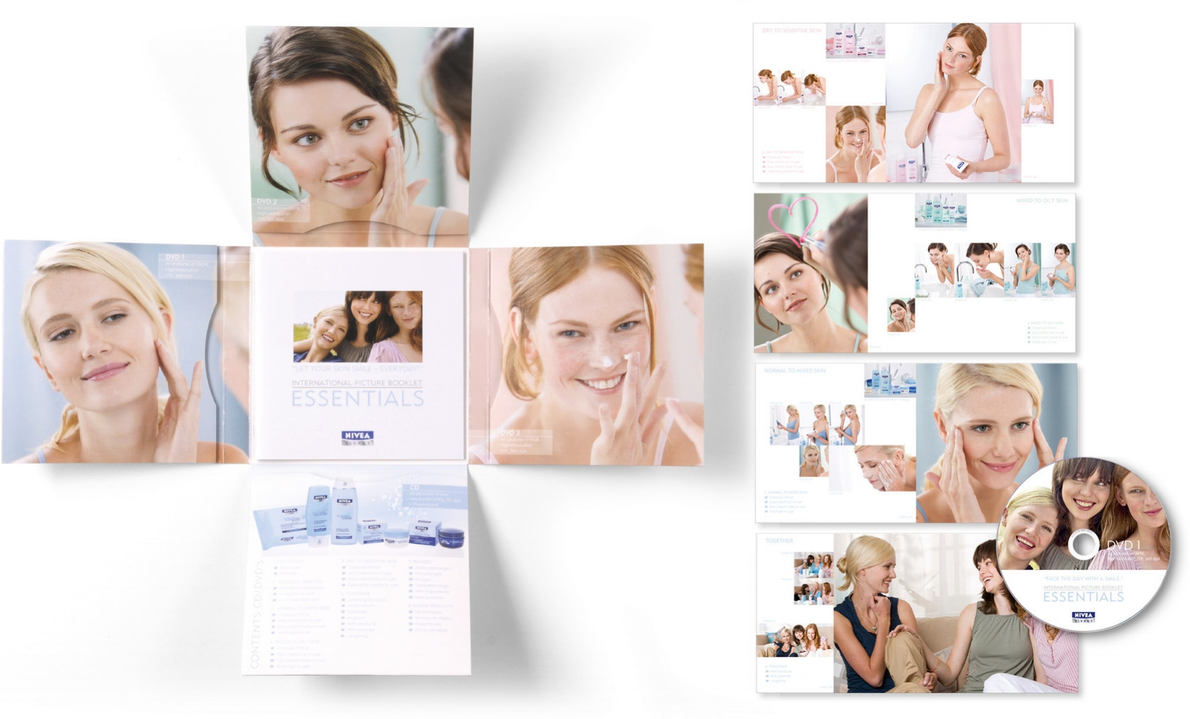NIVEA · International Picture Catalogue · Konzeption, Art Direction am Set, Gestaltung · Fotograf: Markus Hauser · WINTERPOL